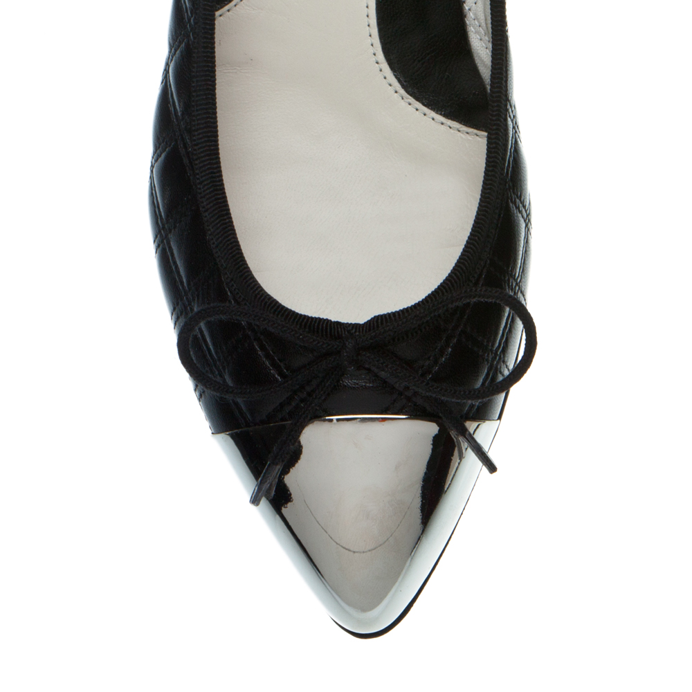 Black quilted ballet flats