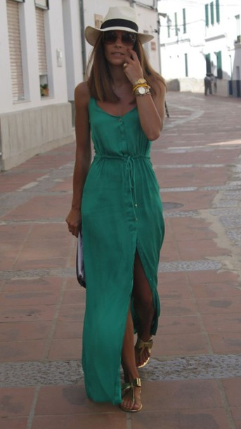 dress teal maxi dress button up dress green maxi dress dress summer dress style clothes robe turquoise dress love fashion green dress