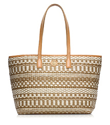 SMALL STRIPE STRAW TOTE