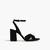 Black High Heel Sandals In Black