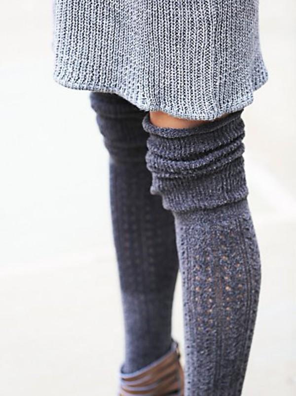 Knitting Pattern For Thigh High Socks : Navy Blue Socks Womens Thick Thigh High Socks Knee Socks ...