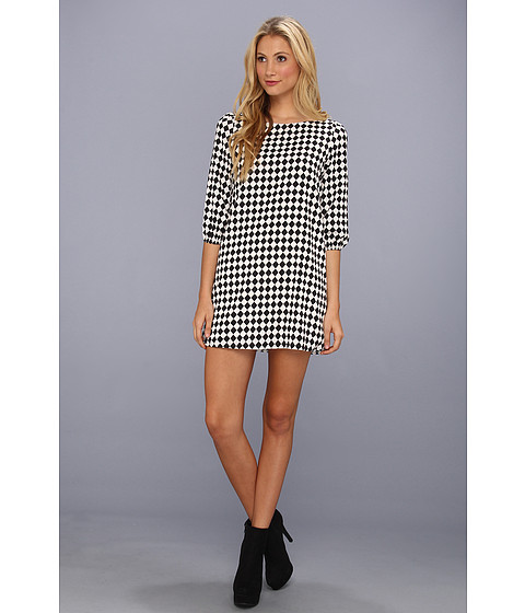 rsvp Eavan Checkered Print Dress White/Black - Zappos.com Free Shipping BOTH Ways