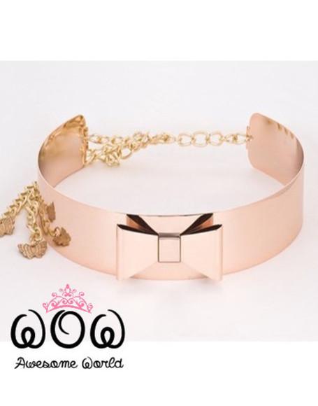 rose gold Belt lace belt gold belt chain luxury