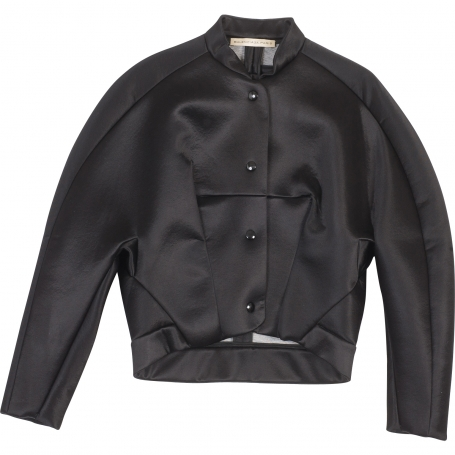 Black satin jacket BALENCIAGA Black size 38 FR in Other All seasons - 813562