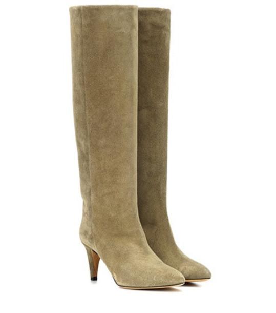 Isabel Marant Latsen suede boots in brown