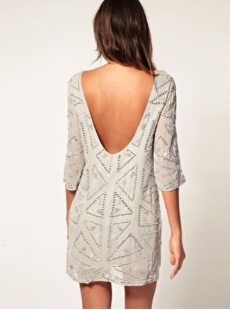 dress short sequins low back