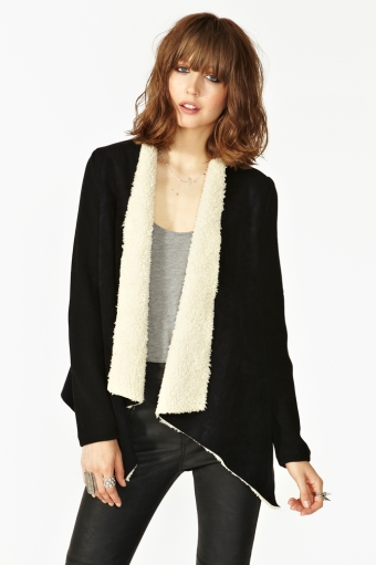 Zurich shearling jacket  in  clothes at nasty gal