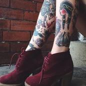 shoes,burgundy ankle boots,ankle boots,burgundy,velvet,velvet boots,boots