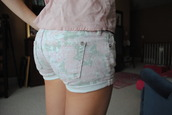 flowered shorts,multicolor,pastel,shorts