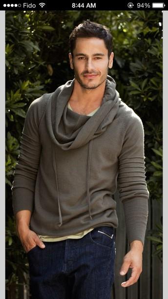 Sweater Grey Sweater Jacket Menswear Mens Shirt Wheretoget