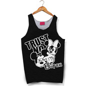 tank top,dope,mickey mouse,minnie mouse,trust no bitch,bag