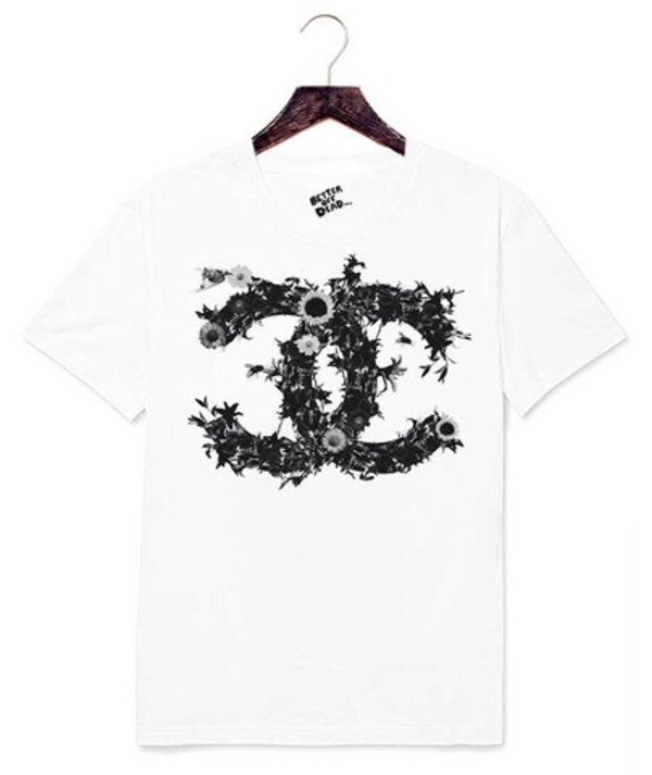 t-shirt better off dead antianti weareantianti chanel vogue