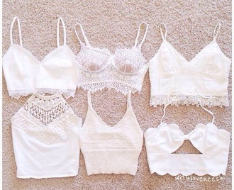 top white lace summer stylish style cute crop tops all white everything coat shirt lae crochet crop top tank top lace top white crop tops coachella style blouse blanc white top pizzo cute top halter top white halter lace halter strappy strappy bralette top