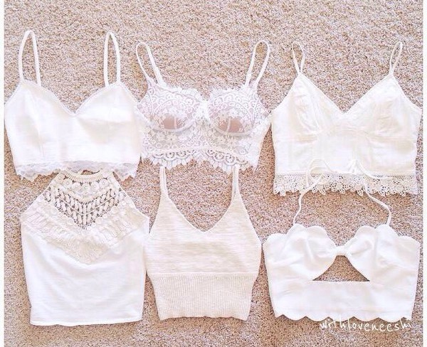 top white lace summer stylish style cute top crop tops all white everything coat shirt lae crochet crop top tank top lace top white crop tops coachella style blouse blanc crop tops white top pizzo cute top halter top white halter lace halter strappy strappy bralette top