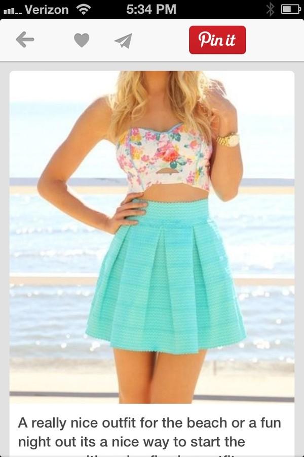 dress skirt blue skirt crop tops summer top