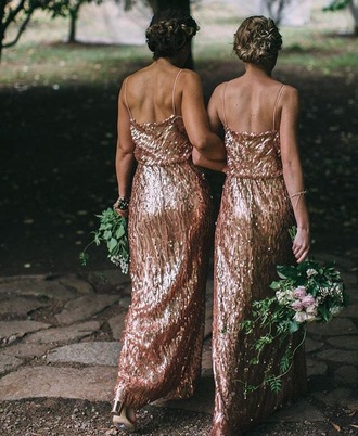 dress bridesmaid wedding dress bridal gown formal dress formal gold gold sequins maxi dress maxi wedding