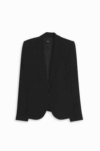 blazer women light black jacket