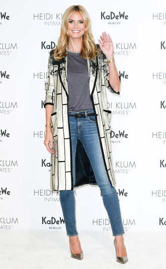 coat jeans heidi klum pumps