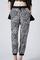 Printed elastic waist vintage harem trousers