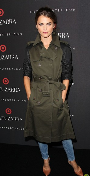 trench coat coat keri russell Keri Russell fashion week 2014