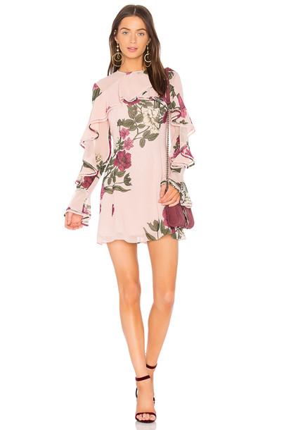Keepsake dress long sleeve dress long blush