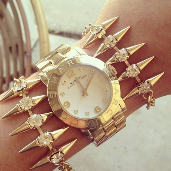 jewels gold marc jacobs diamonds watch michael kors
