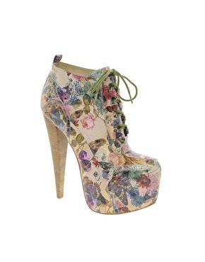 Aldo rise x preen rosann print platform heeled ankle boots at asos