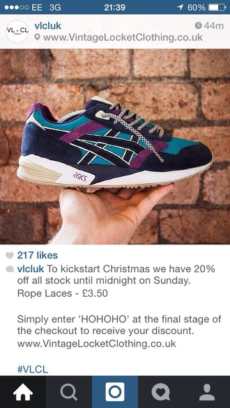 shoes navy asics trainers purple teal