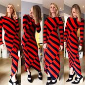dress,stripes,striped dress,pumps,margot robbie,instagram,fall outfits,fall dress,shoes