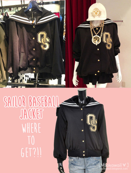 jacket black jacket taobao china made in china kawaii baseball sailor sailor jacket neogal seifuku cheap cheaper swag baseball tee baseball jacket
