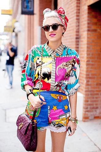blouse shirt colourful summer