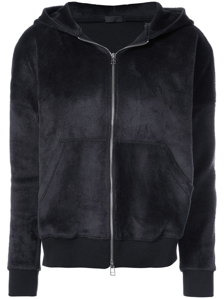 ATM Anthony Thomas Melillo hoodie women spandex cotton black sweater