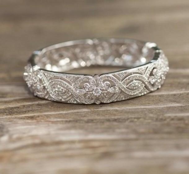 jewels ring bracelets silver diamonds engagement ring wedding platinum white gold zirconia for wedding ring