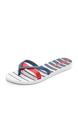sandals white blue shoes