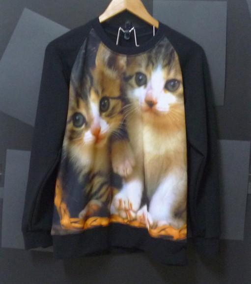 sweater cats cute cat cute sweater men sweater kitten