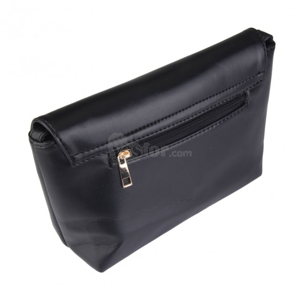 New Heart Little Bag Female Fashion Mini Shoulder Bag Messenger Bag Black, unit price of $11.88 only - Yesfor.com