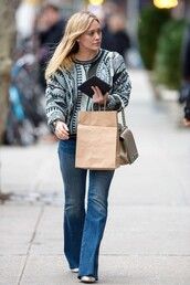 sweater,jeans,hilary duff,fall outfits