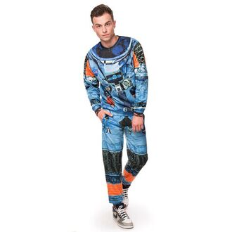 sweater space suit astronaut suit printed sweater full print sweater menswear sweatpants pants joggers pullover jumper