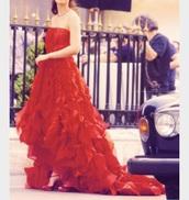 dress,leighton meester,red dress