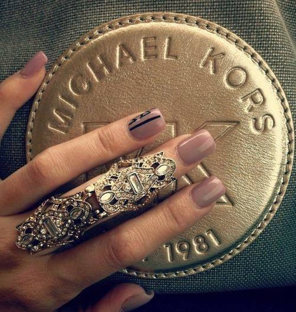 Jewels ring armor ring diamonds bling gold ring statement