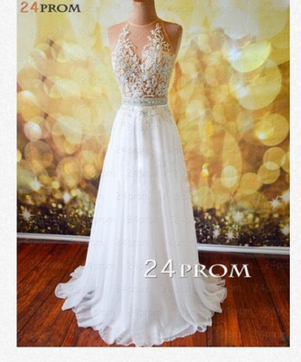 dress prom prom dress whie dress white prom dress beautiful
