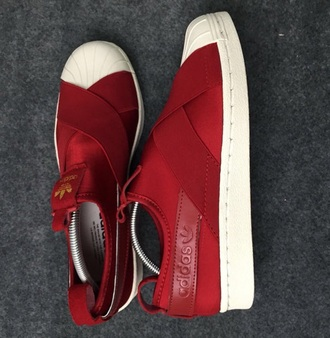 shoes adidas red cute