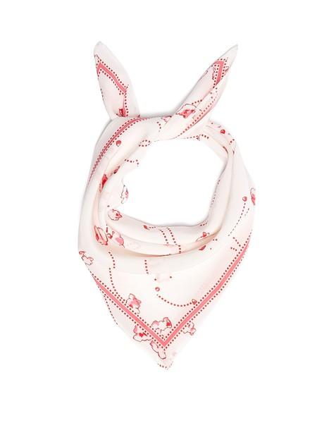 scarf silk scarf print silk white