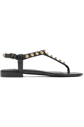 studded sandals leather sandals leather black shoes