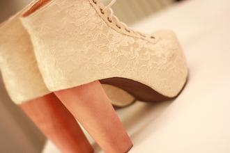 shoes lace pink jeffrey campbell jeffrey campbell lita high heels pastel dentelle heels lita platform litaheels lita shoes rose