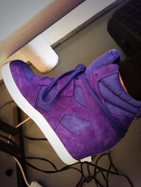 Shoes Purple Wedges High Top Sneakers Sneakers Wheretoget