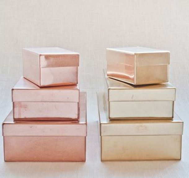like follow & home accessory storage boxes metallic room ideas pretty box ...