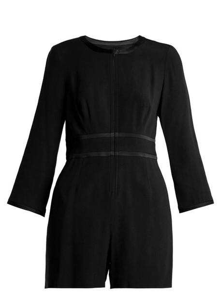 Goat - Fillie Long Sleeved Crepe Cady Playsuit - Womens - Black