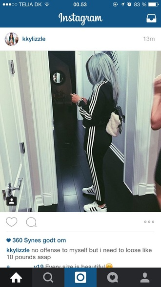 jacket kylie jenner adidas sportswear kardashians adidas tracksuit pants bag shoes leggings jumpsuit dress two-piece set hoodie