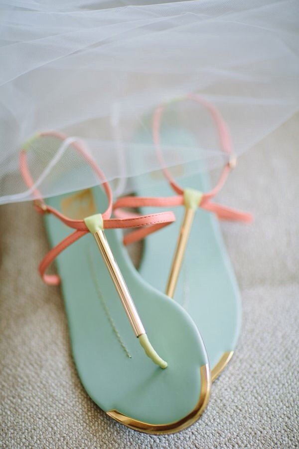 coral sandals in a mint green color shoes